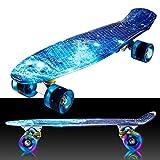 55cm/22 Mini Cruiser Board Retro Skateboard Komplettboard mit...