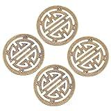 iplusmile 4 Piezas Antiguo Cobre Muebles Aplique Vintage Joyero Caja Decorativa Calcomanía Protector de Esquina para Gabinete Muebles Joyero ()