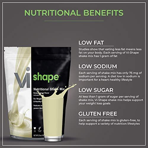 ViSalus Vi Shape Nutritional Shake Mix Sweet Cream Flavor   4 Bags (22oz Each / 96 Total Servings)