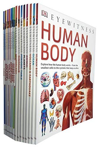 Compare Textbook Prices for DK Eyewitness Collection 16 Books Set Human Body,Ocean,Volcano & Earthquake,Animal,Planets,Periodic Table,Dinosaurs,Mythology,Ancient Egypt,Tudor,Victorians,Ancient Rome,Ancient Greece and More  ISBN 9789123966721 by DK,Ocean By DK 978-1465420541, 1465420541, 9781465420541,Volcano and Earthquake By DK 978-1465426185, 146542618, 9781465426185,Planets By DK 978-1465462503, 1465462503, 9781465462503,Mythology By DK 978-1465462466, 1465462465, 9781465462466,Animal By DK 978-1465435705, 1465435700, 9781465435705
