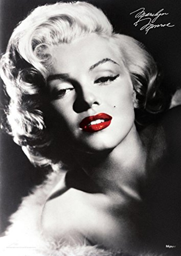 """Marilyn Monroe – Red Lips – Durable 17"""" x 24' MightyPrint Wall Art – NOT Made of Paper – Officially Licensed Collectible"""