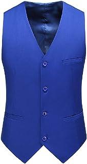 CRYYU Mens Formal Slim Fit Business Sleeveless 4 Button Dress Vest Waistcoat