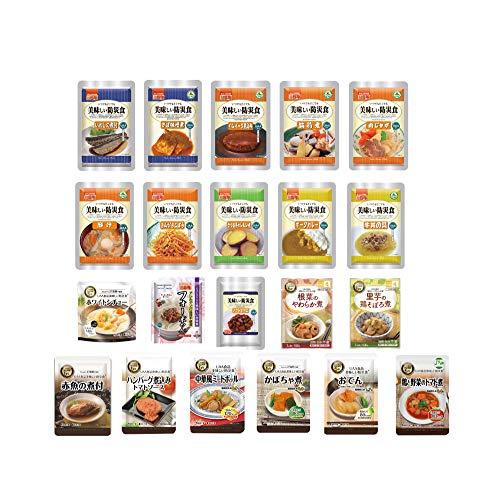 非常食セット 美味しい防災食 7日分 「おかず・お惣菜・麺類 豪華21種類セット」