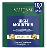 VAHDAM, High Mountain Oolong Tea Bags, 100 Count | 100% Detox Tea | Oolong Tea for Weight Loss | Detox Tea | Oolong Tea Bags 100 Count | Brew Hot, Iced or Kombucha Tea | Packed at Source in India
