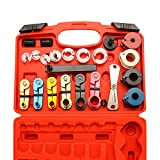 X XINDELL 22pcs Master Quick Disconnect Tool Kit for Automotive AC Fuel Line Tools Transmission Oil Cooler Line, Includes Scissor Type Remover, Compatible with Most Ford Chevy GM Models