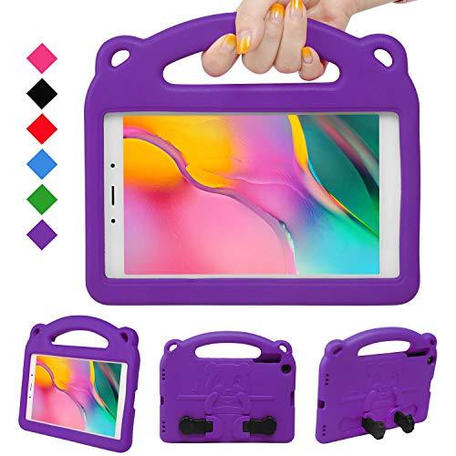 NEWSTYLE Kinder Hülle für Samsung Galaxy Tab A 8.0 Inch 2019, Leicht, Stoßfest, Griff für Kinder, Einzigartig Ständer für Tab A 8.0 Inch 2019 SM-P290/P295 Release (Violett)