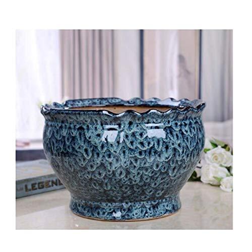 LZZR Maceta, Maceta Grande de cerámica Extra de diámetro Interior y Exterior Cuenca de 26-39 cm,...