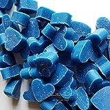 Florex Schafmilchseife mini mini Herz 50 Stück Enzian im Organzasäckchen Seife Gastgeschenk