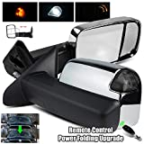 ModifyStreet Fits 2002-2008 Dodge Ram 1500/2003-2009 Ram 2500/3500 with Power/Heated/Chrome Cover/Smoke Turn Signal Towing Mirrors with Remote Control Power Folding Upgrade