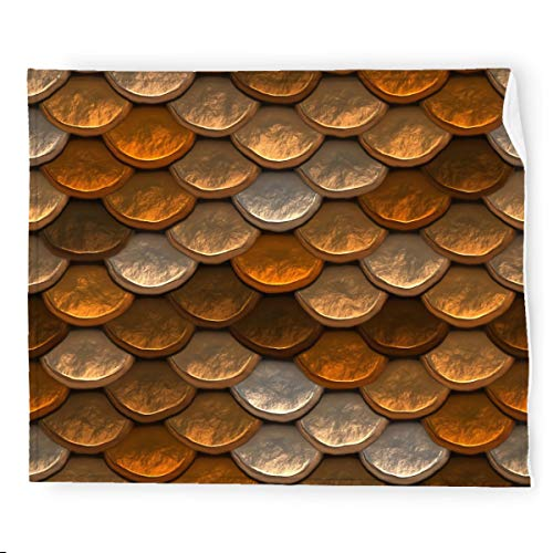 Shimmering Pattern In Brown And Copper Tones Flannel Blanket Bedding Throw Blanket Soft Warm Cozy Colorful Decorative Blanket for Couch, Sofa 50'x60'