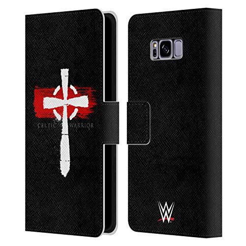 Head Case Designs Oficial WWE Serpiente Sheamus Carcasa de Cuero Tipo Libro Compatible con Samsung Galaxy S8+ / S8 Plus