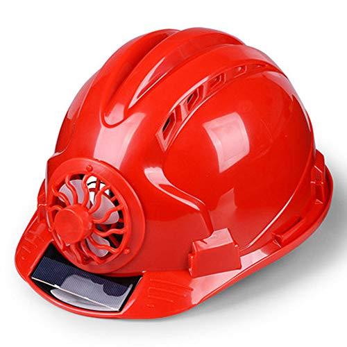 Xurui Schutzhelm, Ventilated Baustelle, Sonnenschutz Baustelle Schutzhelm, Multi-Farbauswahl (Color : Red)