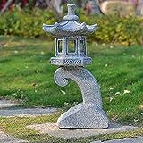 Ybzx Al Aire Libre del Estilo japonés solares Zen Garden Lights, Linterna Pagoda de...