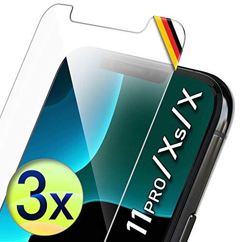 UTECTION 3X Schutzglas für iPhone 11 PRO, iPhone X/XS (5.8