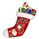 ruikey Retro Strass Weihnachten Strümpfe Brosche Pins Schals Halsband Clip Corsage für Weihnachten Dekoration, As show#2, 4.5*2.7cm