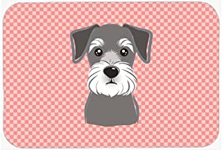 Caroline's Treasures Checkerboard Pink Schnauzer Mouse Pad/Hot Pad/Trivet (BB1206MP)