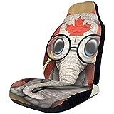 Fall Ing Fundas de asiento de coche Bandera canadiense de Canadá Hoja de arce Elefante Protector Cojín Funda de asiento Se adapta a la mayoría de los automóviles