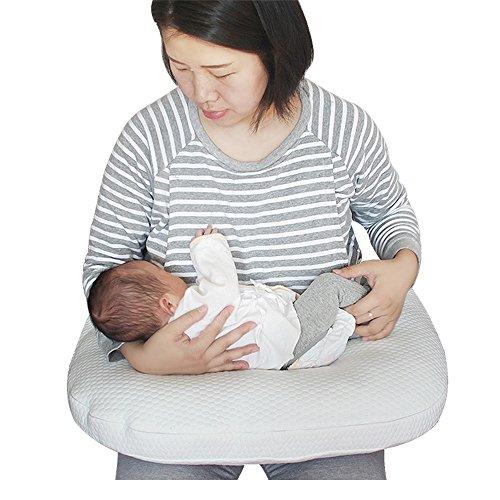 LJHA Oreillers de nourrissage Artefact d'allaitement Infantile Oreillers de Lait Anti-Broche Coussin Beige 65 * 55 * 25cm Oreillers d'allaitement