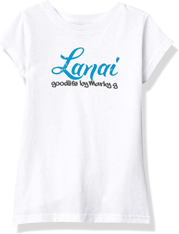 Marky G Apparel Girls' Printed Lanai Graphic Cotton Jersey Short Sleeve Tee