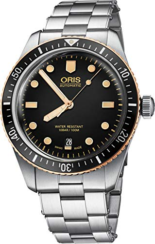 Oris Divers Reloj automático para hombre con esfera negra 01 733 7707 4354-07 8 20 18