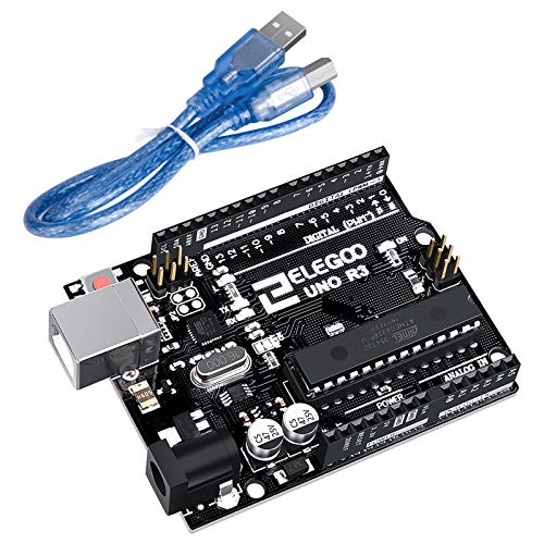 ELEGOO UNO R3 Board ATmega328P ATMEGA16U2 with USB Cable Compatible with Arduino IDE Projects, RoHS Compliant