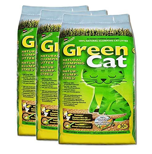 Green Cat Natur-Katzenklumpstreu 3X 30L (90L)