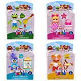 Disney Junior Muppet Babies Poseable Action Figures 2.5' Set of 4 - Fozzie, Piggy, Summer Penguin and Kermit