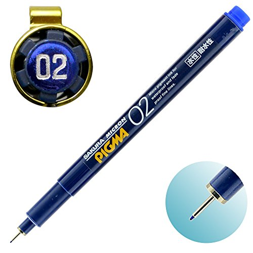 Sakura Pigment Ink Pen, Pigma Micron 02, Blue (ESDK02#36) Photo #2
