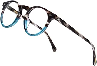 Vintage Round Glasses Clear Lens Thick Round Rim Acetate...