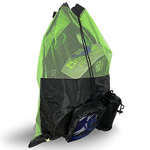 XL Bolsa de natación de malla - Mochila con cordón para natación - Mochila grande...