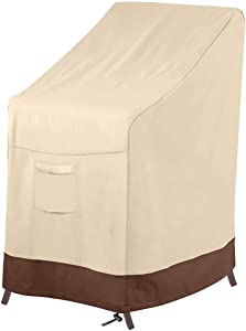 Vailge Stackable Patio Chair Cover,100% Waterproof Outdoor Chair Cover, Heavy Duty Lawn Patio Furniture Covers,Fits for 4-6 Stackable Dining Chairs,36