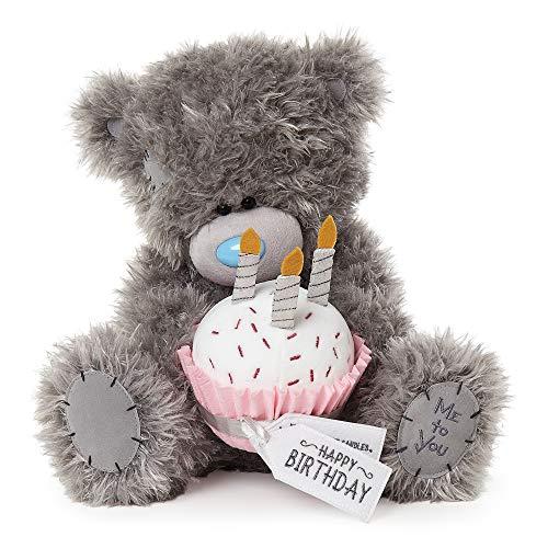 Me To You APD01002 Tatty Teddybär Happy Birthday Cupcake, grau