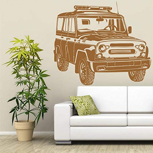 HNXDP Russische Auto UAZ Wandtattoo Garage Vinyl Aufkleber Kunst Dekor Wandhaupt Wohnzimmer Aufkleber Auto Aufkleber Abnehmbare YO8 57X50 CM