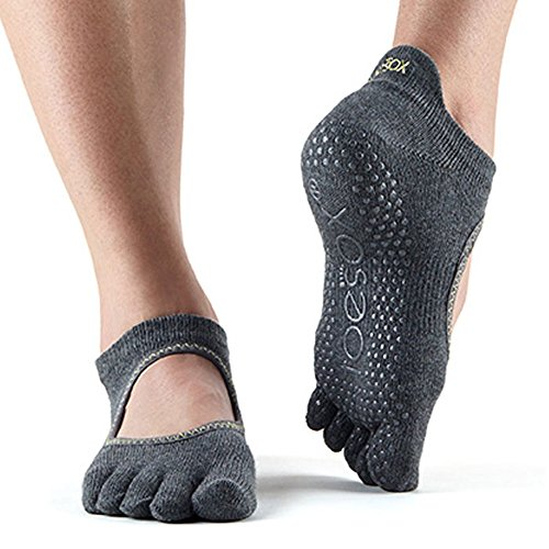 Toe Sox Toesox Grip Pilates Barre Socks-Non Slip Elle Full Toe for Yoga /& Ballet Chaussettes Femme