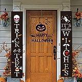 Fun Gift Banner per Esterni di Decorazioni di Halloween   Dolcetto o Scherzetto ed è Ottobre Segni di Halloween delle Streghe per la Porta d'ingresso o la Decorazione Domestica Interna