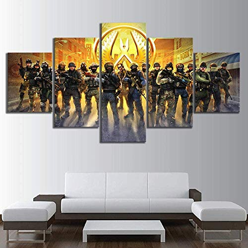 NC56 5 Panels Leinwand Malerei Wandkunst Bilddrucke HD Leinwand Malerei Moderne Kunstwerke Leinwand Kunst für Home Decoration CS Game Global Offensive