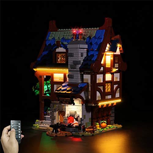 Lommer Jeu De Lumières pour Lego Ideas 21325 Forgeron Médiéval, LED Kit Lumière Compatible avec Lego 21325 (Lego Modèle Non Incluse)