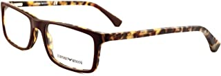 Emporio Armani Square Glass Frame for Unisex - Clear