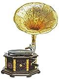 Aubaho Nostalgia gramófono gramófono Embudo de Estilo Antiguo decoración (n2)