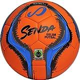 SENDA Belem Training Futsal Ball, Fair Trade Certified, Orange/Blue/Grey/Black, Size 4 (Ages 13 & Up)