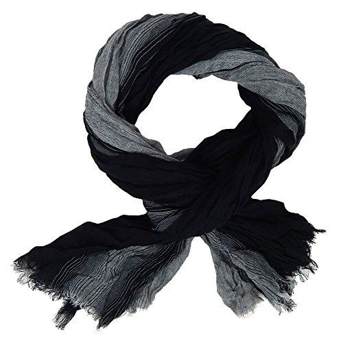 Ella Jonte Écharpes foulard d'homme élégant et tendance de la dernière collection by Casual-style noir gris