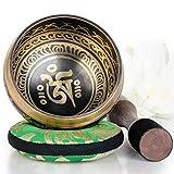 Silent Mind ~ Campana Tibetana con Accessori ~ Modello Equilibrio e Armonia ~ Con Battente...