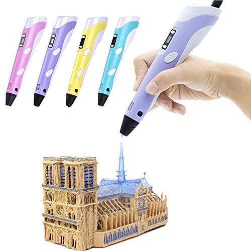TINERS 4-Color de producción de ABS/Pla 1ª 1,75 mm DIY LED Display Painti 3D Impresora de la Pluma de diseño Creativo Regalo de los niños de Pintura Infantil,Rosado