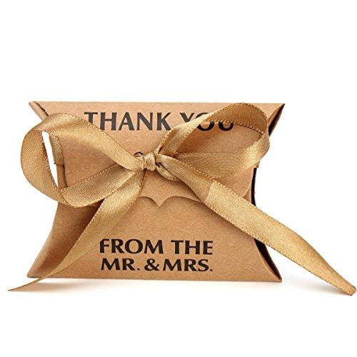 Flushbay ギフトボックス 50個セット キャンディ ボックス お菓子箱 チョコレート包装箱パーティー 結婚式 誕生日用ボクス 贈り物 好意 ギフトボックス (茶色)