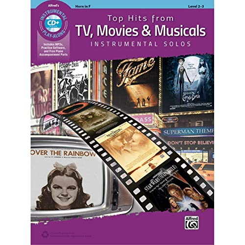 Top Hits from TV, Movies & Musicals Instrumental Solos: Horn in F, Book & Online Audio/Software/PDF (Top Hits Instrumental Solos)