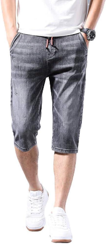 brandless Men's Shorts Summer Thin Section Pants Casual Denim Shorts Slim