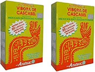 Authentic Mexican Rattlesnake Powder 100 Capsules 400 mg ea and Key Chain, Vibora de Cascabel capsulas y Llavero.