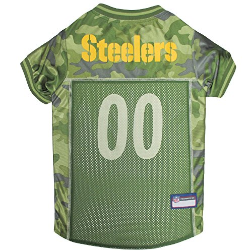 NFL Pittsburgh Steelers Camouflage Dog Jersey, Small. - CAMO PET Jersey Available in 5 Sizes & 32 NFL Teams. Hunting Dog Shirt