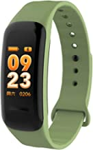 L JING Fitness Tracker  IP67 Waterproof Activity Tracker Smart Bracelet with Heart Rate Monitor Pedometer Step Counter and Sleep Monitor Calorie Watch for Kids Women Men for Android and iOS Green