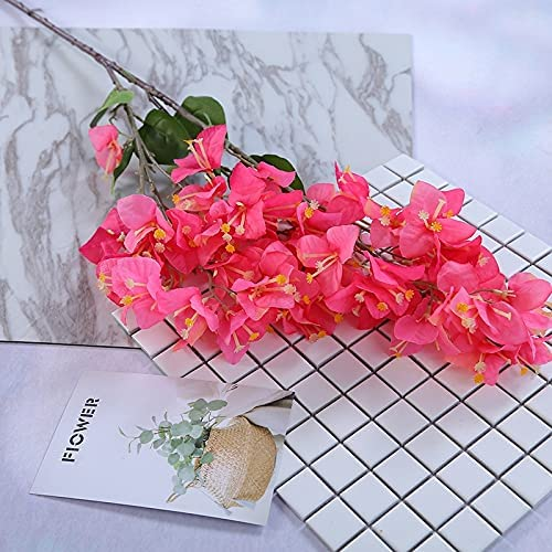 Artificial and Dried Flower 5pcs Silk Bougainvillea Cheap mail order shopping Boston Mall F